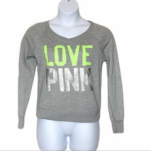 Victoria Secret Pink v neck sweatshirt small